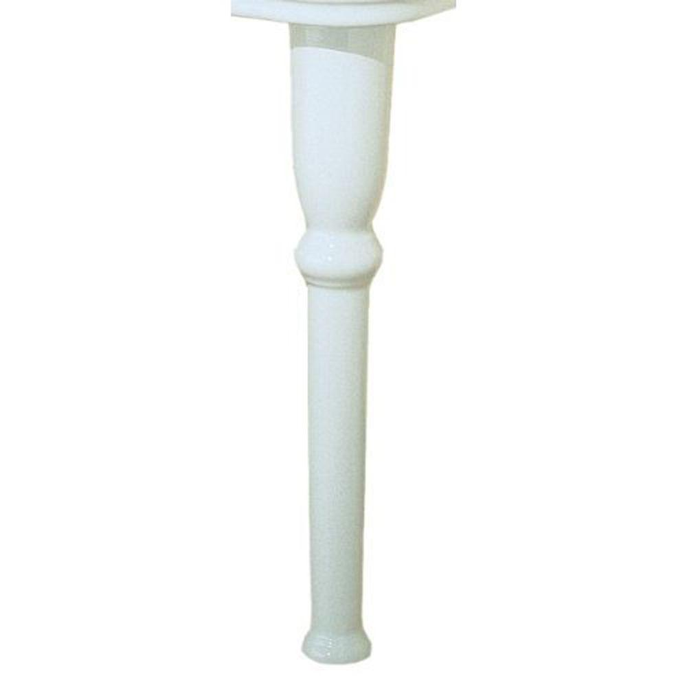 St. Thomas Creations Old Antea China Straight Console Legs in White