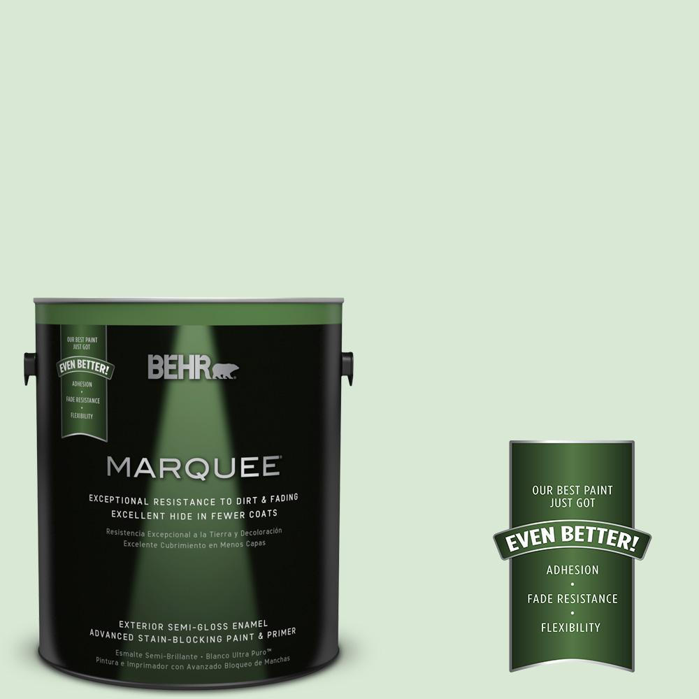 BEHR MARQUEE 1-gal. #M400-2 Glass Tile Semi-Gloss Enamel Exterior Paint-545001 -