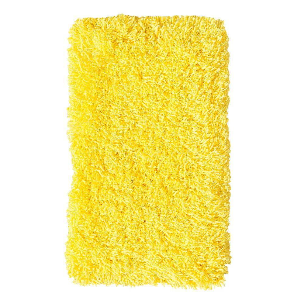 Ultimate Shag Sunshine Yellow 6 ft. x 9 ft. Area Rug