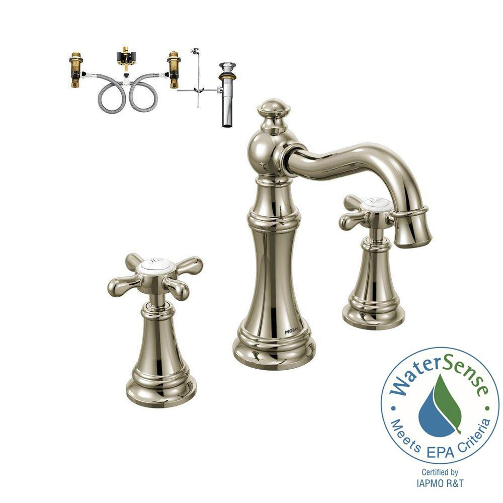 Weymouth 8 in. Widespread 2-Handle Bathroom Faucet Trim Kit with Valve
