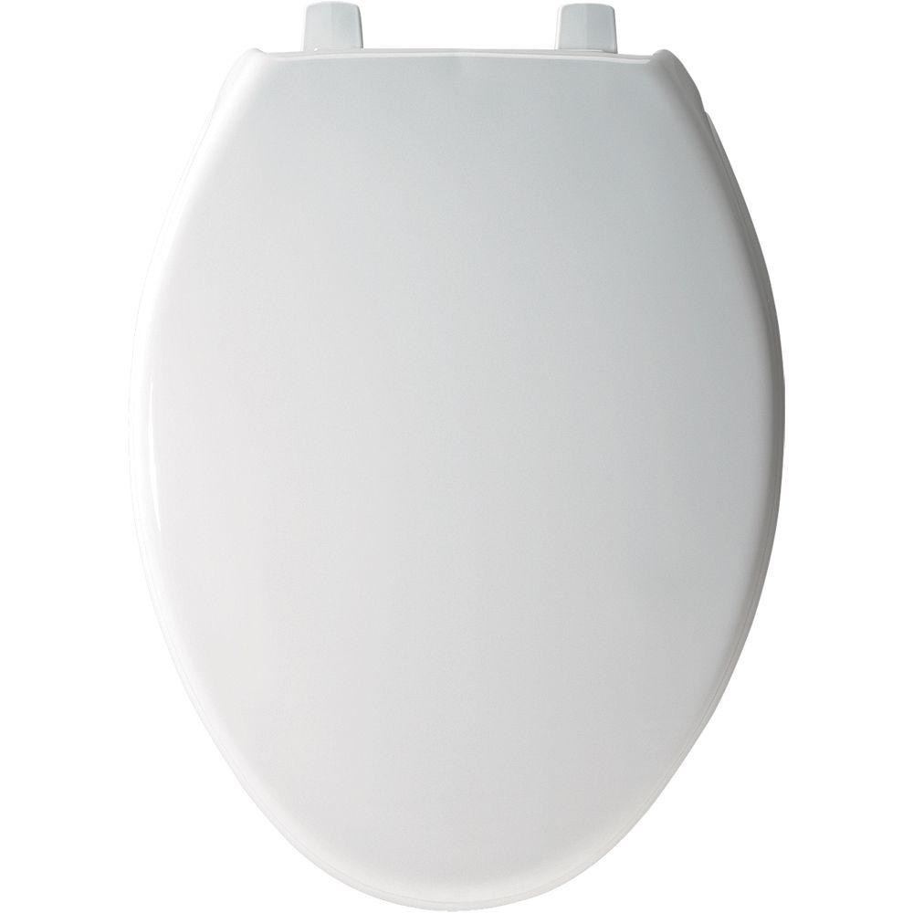 BEMIS STA-TITE Elongated Closed Front Toilet Seat in White-7800TDG 000 -