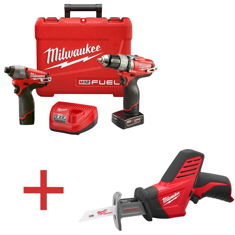 M12 FUEL 1/2 in. Drill/Driver and Impact Kit with Free M12