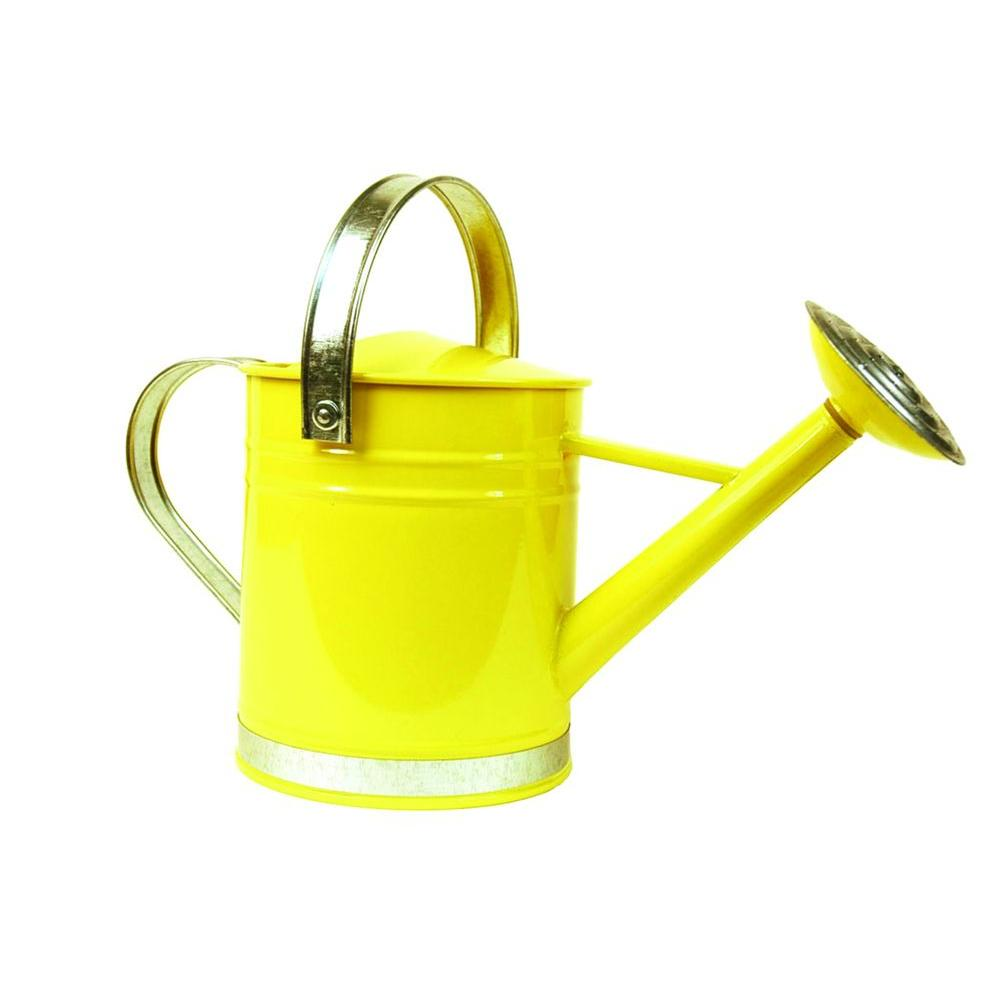 Arcadia Garden Products Basic 0.5 Gal. Yellow Metal Watering Can-WC02 -