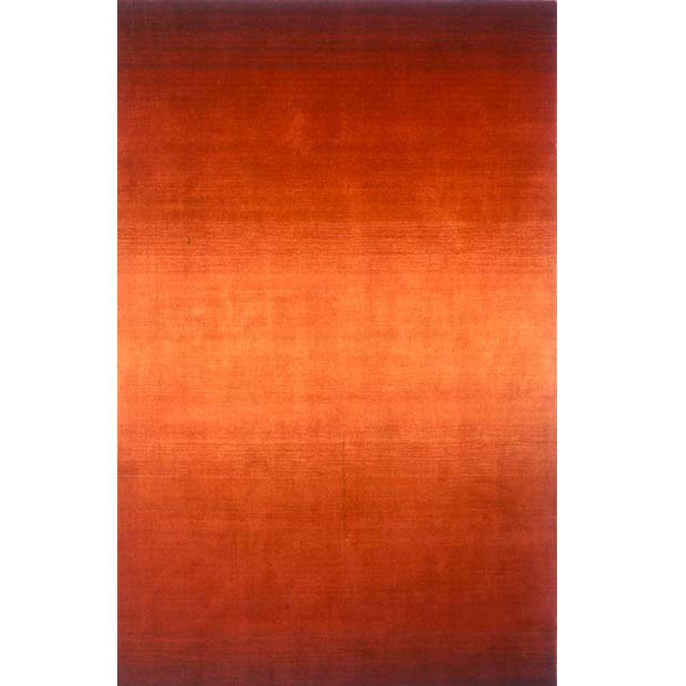 Momeni City Life Collection Paprika 8 ft. x 11 ft. Indoor