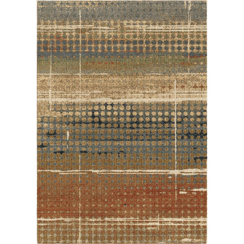 Houston Plush Distressed Beige 5 ft. 3 in. x 7 ft.