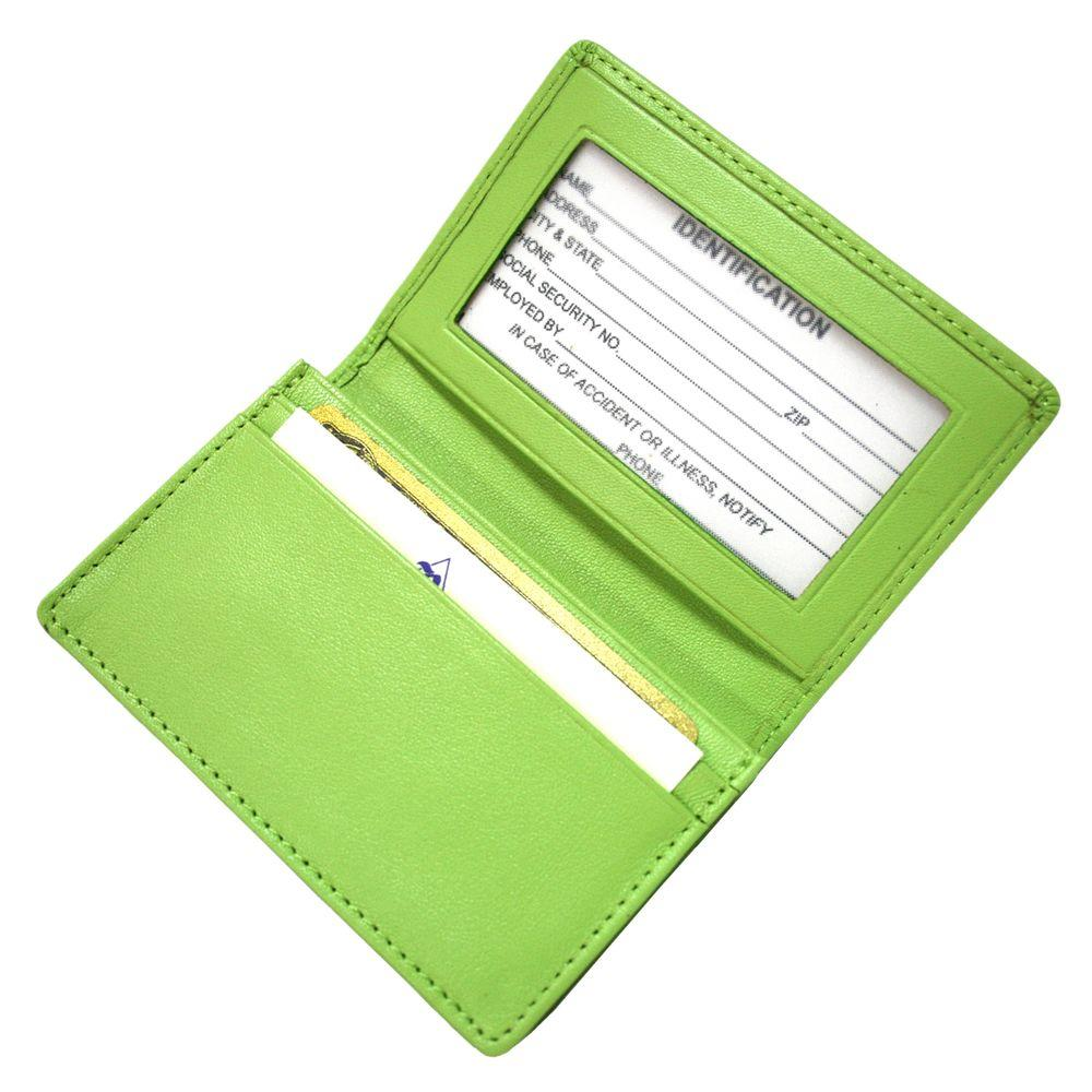 Executive Business Card Case in Genuine Leather, Key Lime Green Sale $32.00 SKU: 206686809 ID: 405-KLG-5 UPC: 794809017962 :