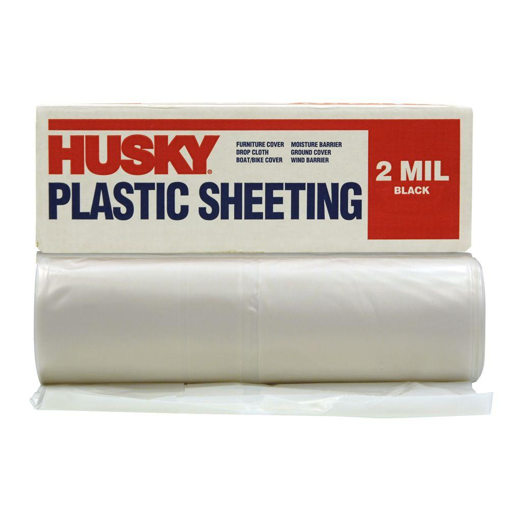 10 ft. x 100 ft. Clear 2 mil. Plastic Sheeting