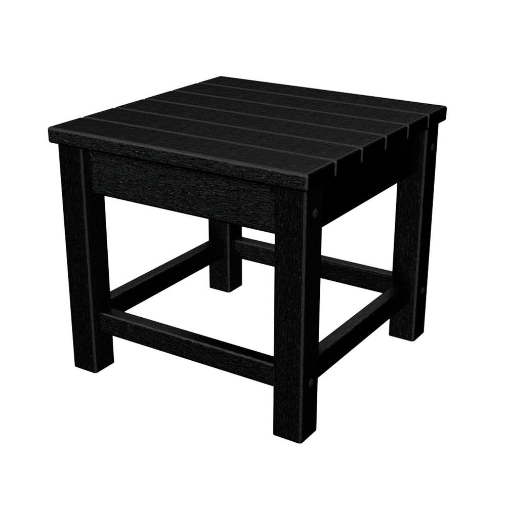 Club 18 in. Black Patio Side Table
