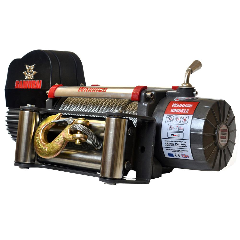 Samurai Series 9,500 lb. Capacity 12-Volt Electric Winch with 85 ft.