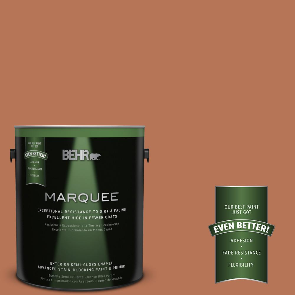 BEHR MARQUEE Home Decorators Collection 1-gal. #HDC-AC-06 Campfire Blaze Semi-Gloss Enamel Exterior Paint