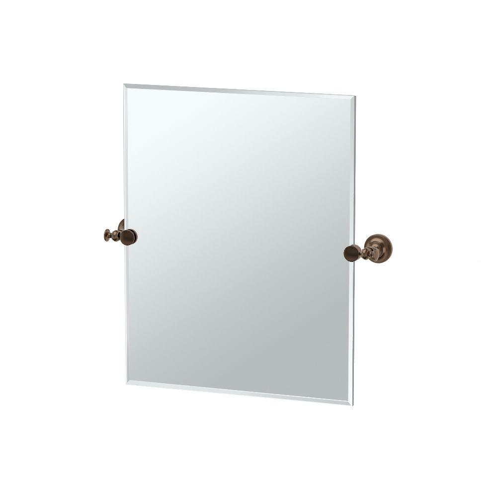 Gatco Tavern 23.50 in. x 24 in. Frameless Single Small Rectangle