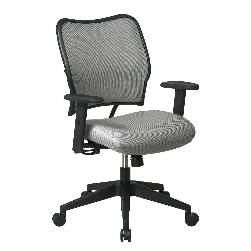 Office Star Deluxe VeraFlex Back/Seat Office Chair in Gray-13-V22N1WA - The
