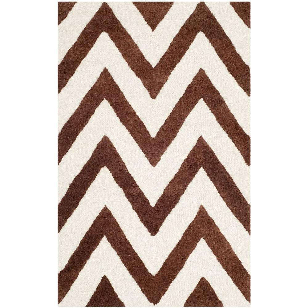 Cambridge Dark Brown/Ivory 2 ft. x 3 ft. Area Rug