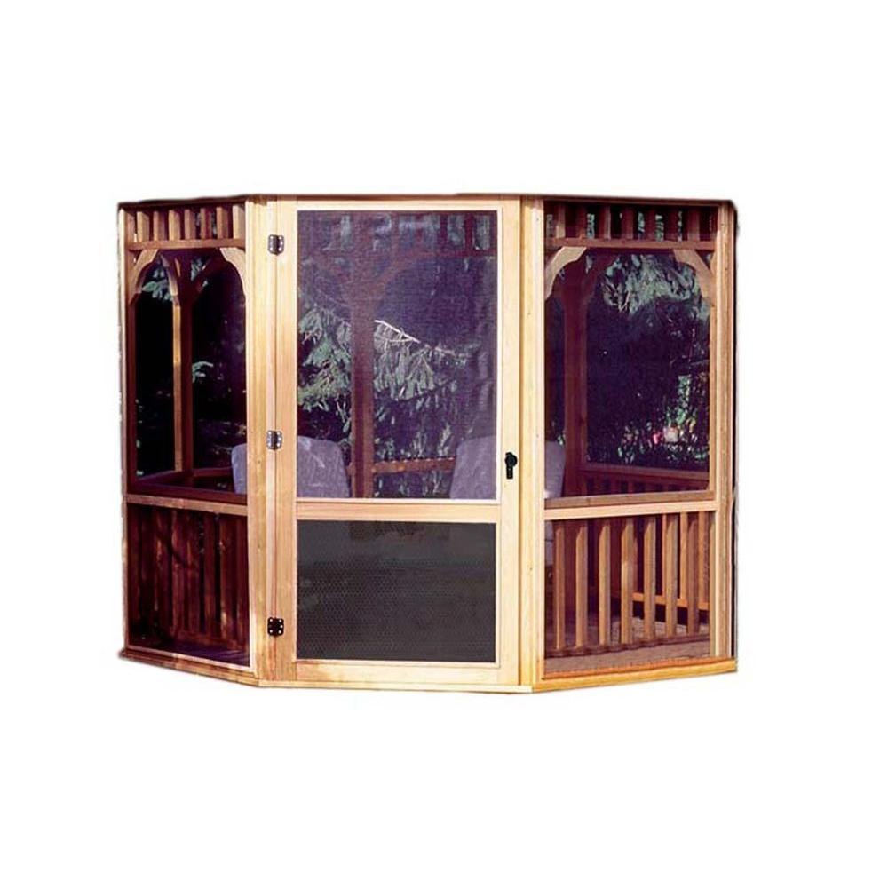 Handy Home Products Gazebo Screens with Door Kit-19936-3 - The Home