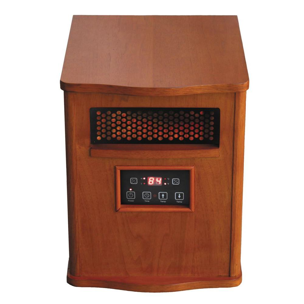 Comfort Glow 1500-Watt Infrared Quartz Compact Portable Heater with Remote Control