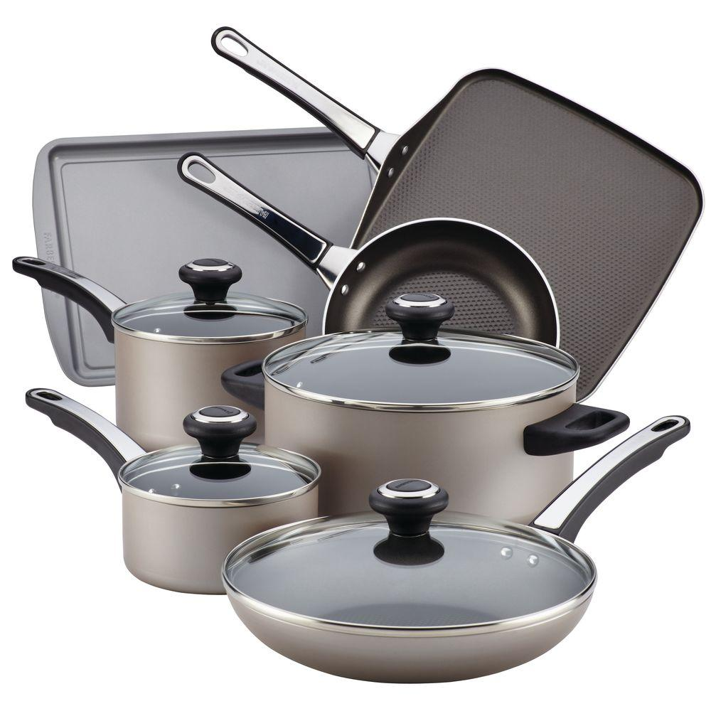 Farberware High Performance Nonstick 17-Piece Cookware Set in Champagne-21925 -