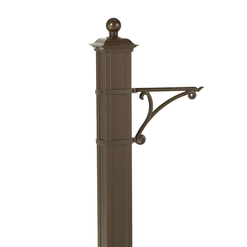 Whitehall Products Balmoral Bronze Post Plant Hook-16245 - The Home Depot
