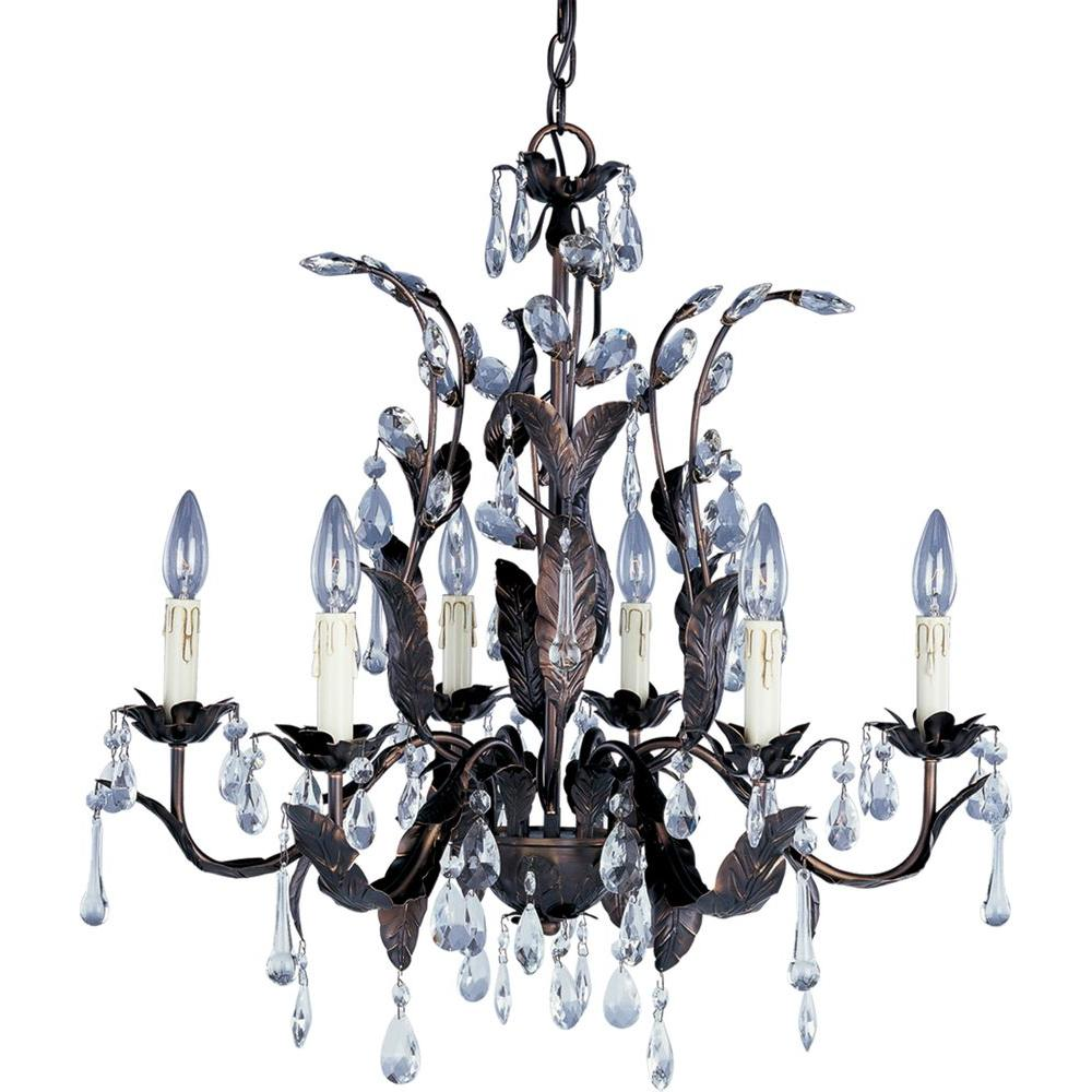 Maxim Lighting Grove 6-Light Oil-Rubbed Bronze Chandelier-8835OI - The Home
