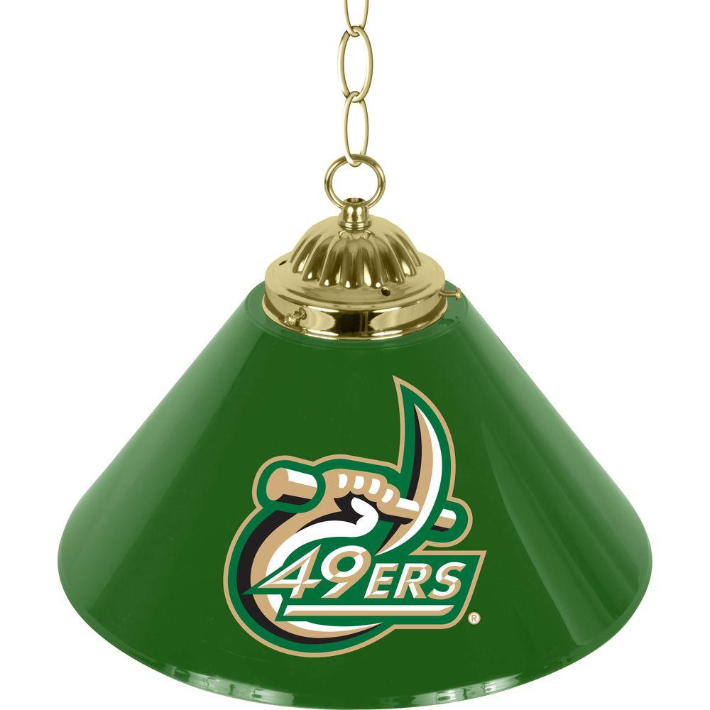 Trademark North Carolina Charlotte 14 in. Single Shade Stainless Steel Hanging