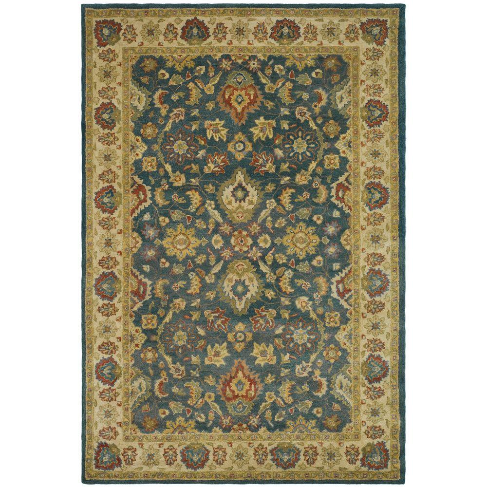 Antiquity Blue/Beige 5 ft. x 8 ft. Area Rug