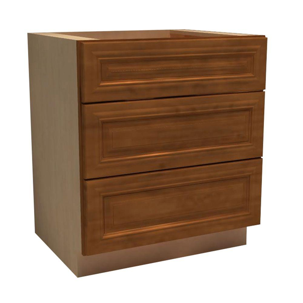 Clevedon Assembled 30x34.5x24 in. Single False Front & 2 Deep Drawers