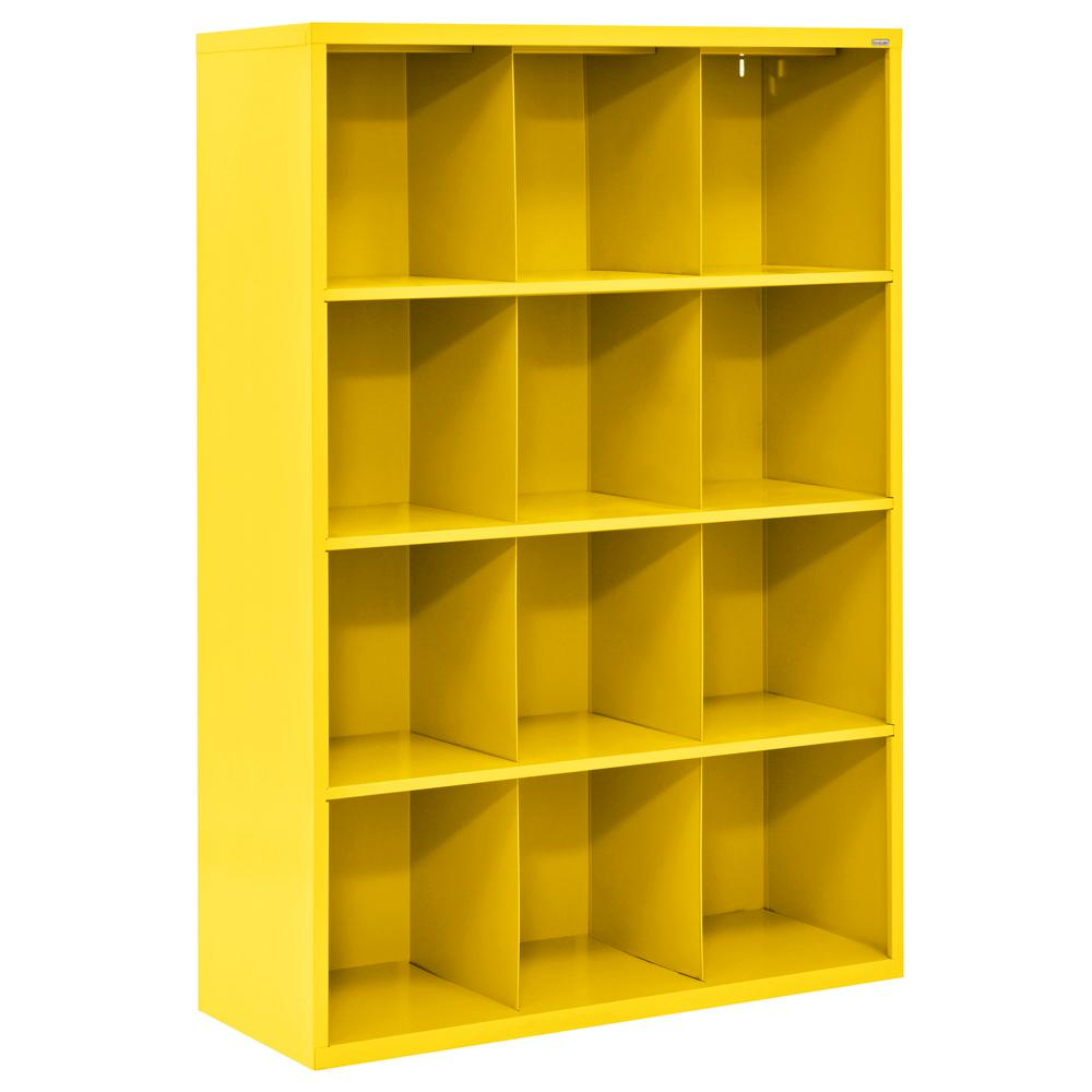 null Cubby 46 in. x 66 in. Yellow 12-Cube Organizer