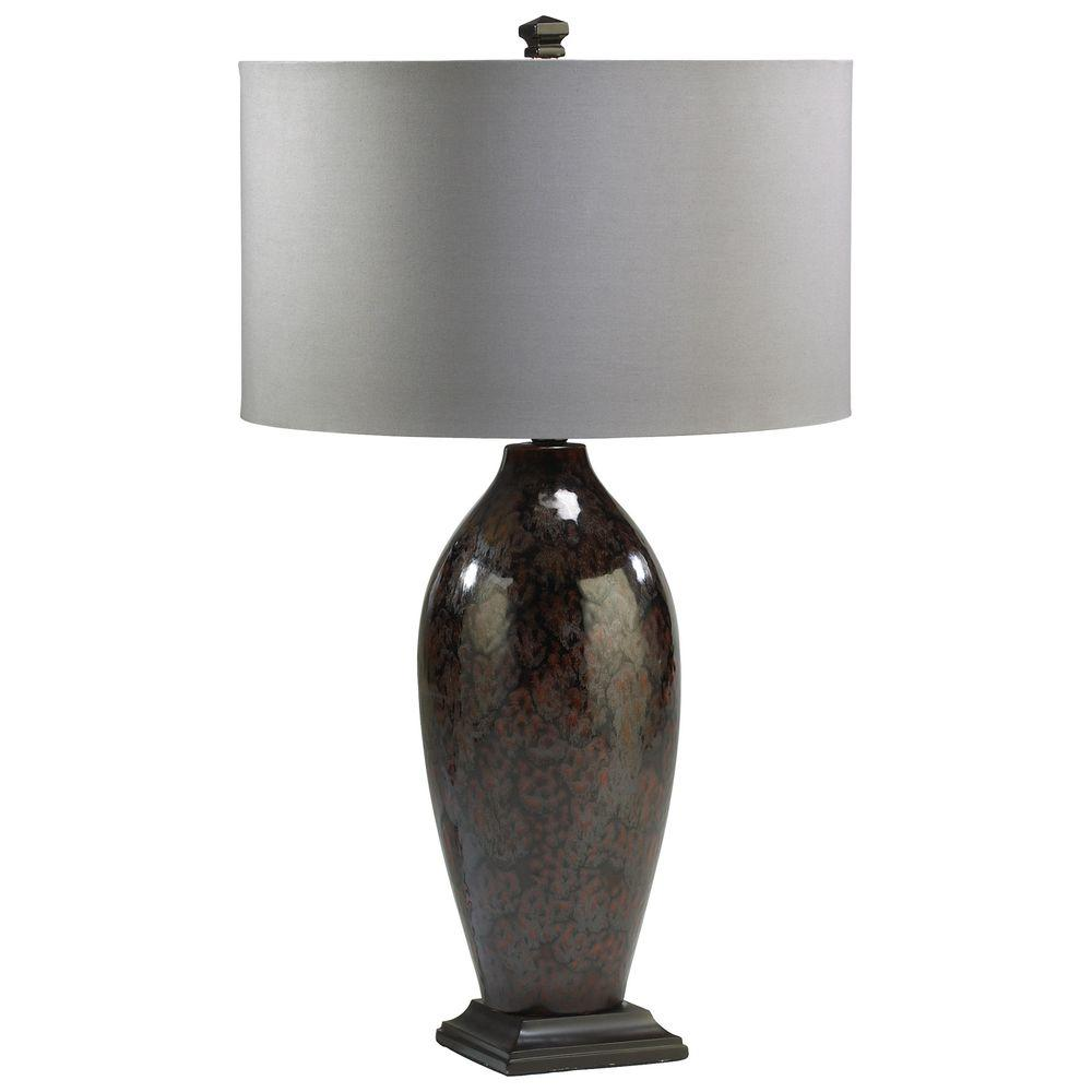 Filament Design Prospect 25 in. Brown Retro Art Table Lamp