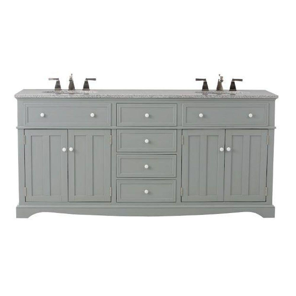 Home decorators collection fremont 72 in double vanity in for Home decorators vanity top