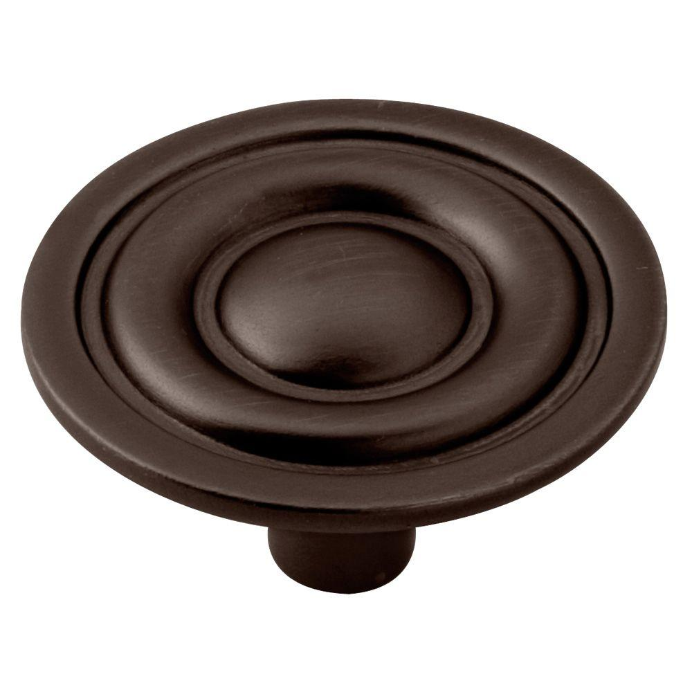 Liberty 1 5 16 in venetian bronze target round cabinet - Home depot kitchen cabinet pulls ...
