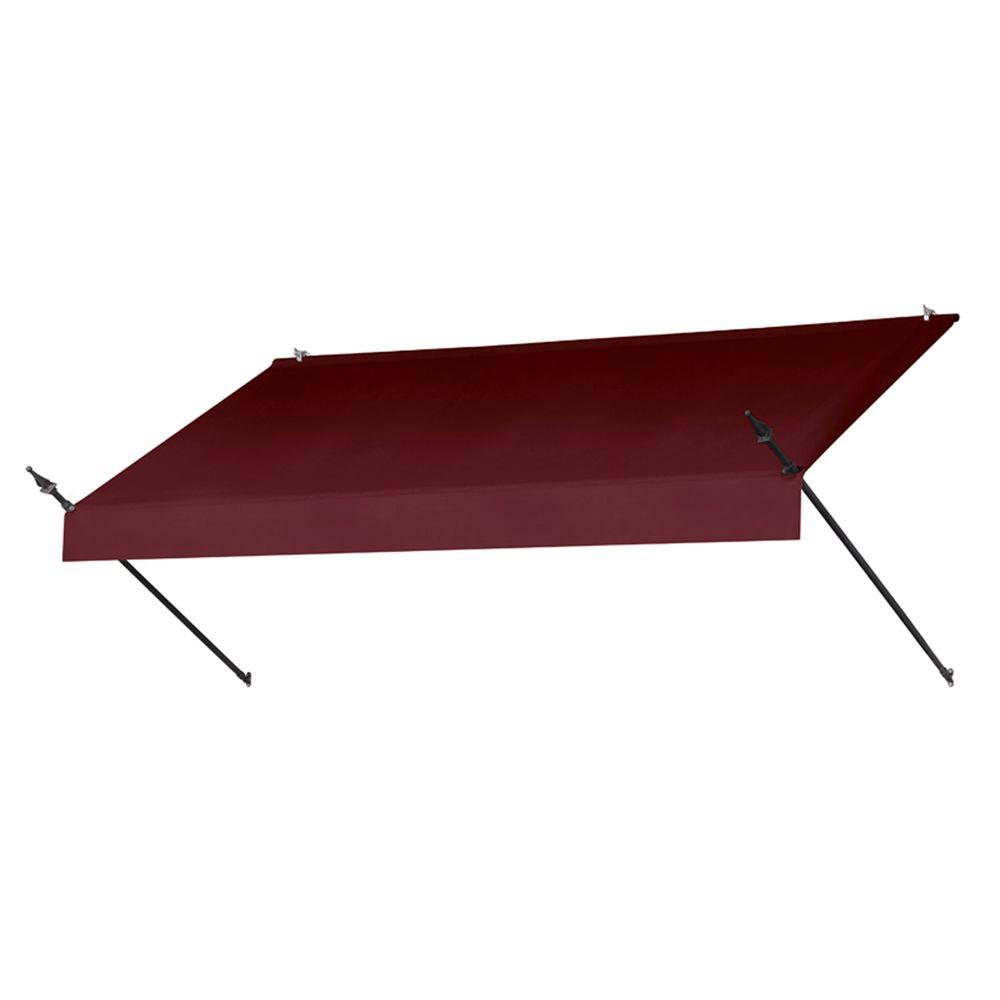 8 ft. Designer Manually Retractable Awning (36.5 in. Projection) in Burgundy