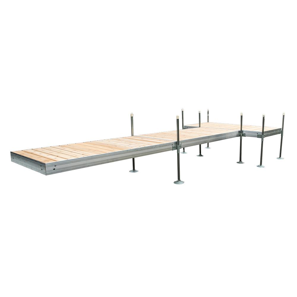 20 ft. T-Style Aluminum Frame with Cedar Decking Complete Dock Package