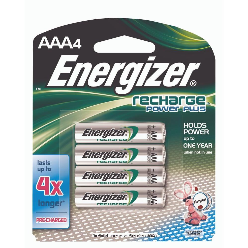 Energizer NiMH AAA Recharge Battery (4-Pack)