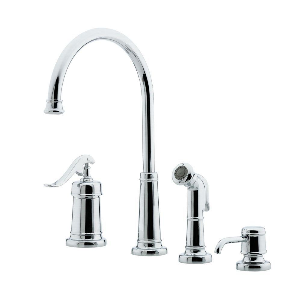 Pfister Ashfield Single-Handle High-Arc Standard Kitchen Faucet with Side