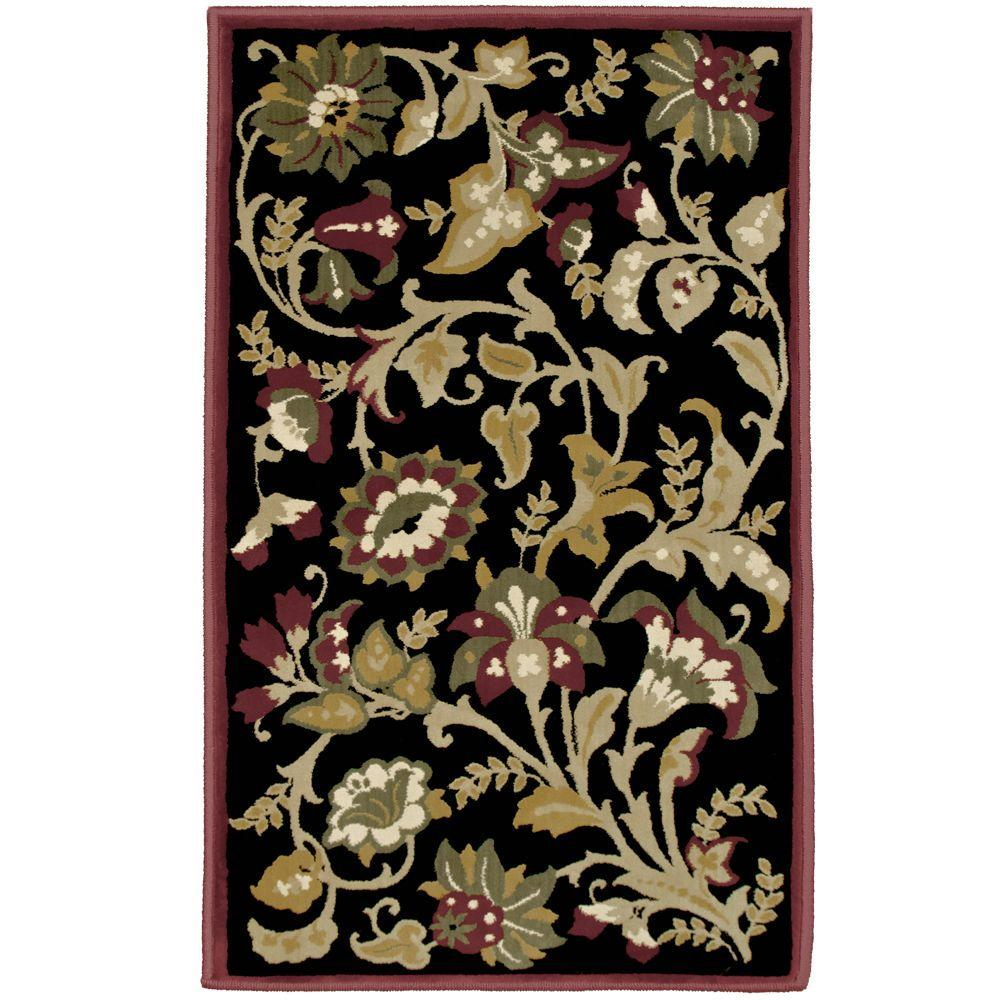 Orian Rugs Devore Black 1 ft. 11 in. x 3 ft. 3 in. Accent Rug
