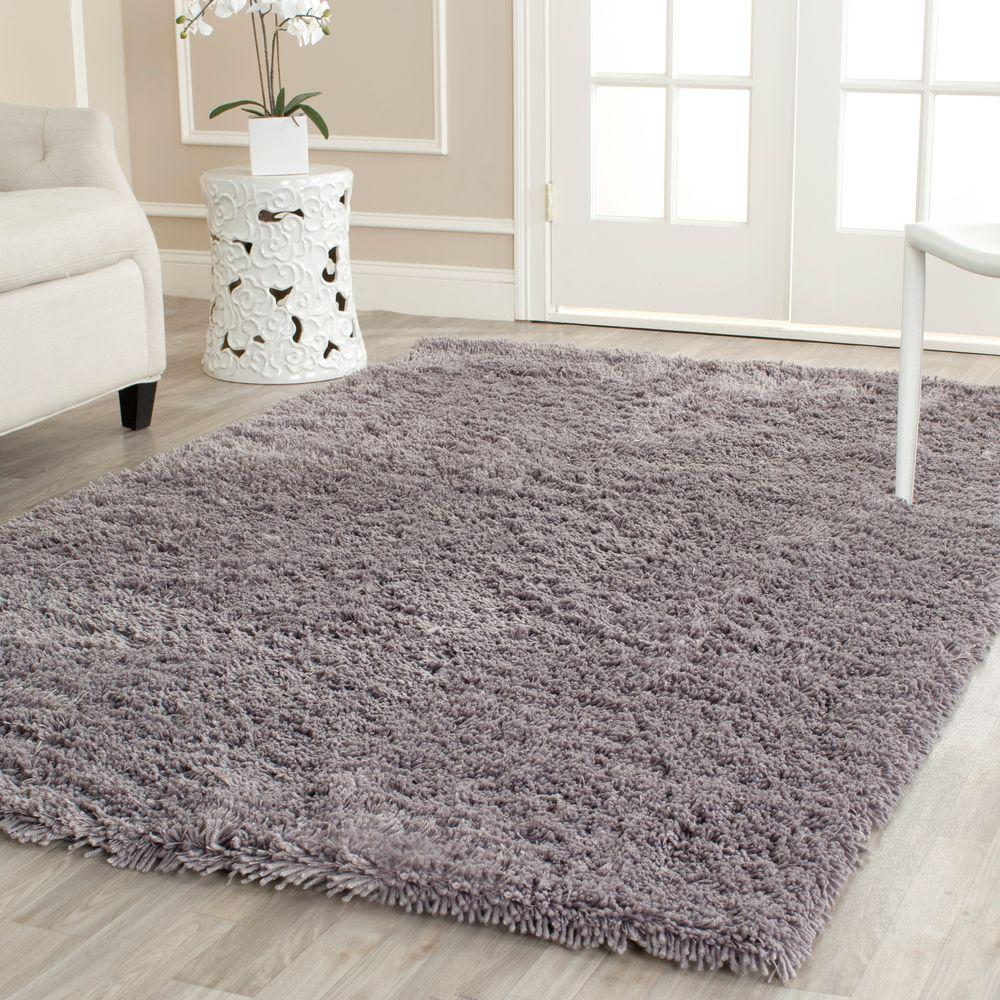 Classic Shag Ultra Gray 7 ft. 6 in. x 9 ft.