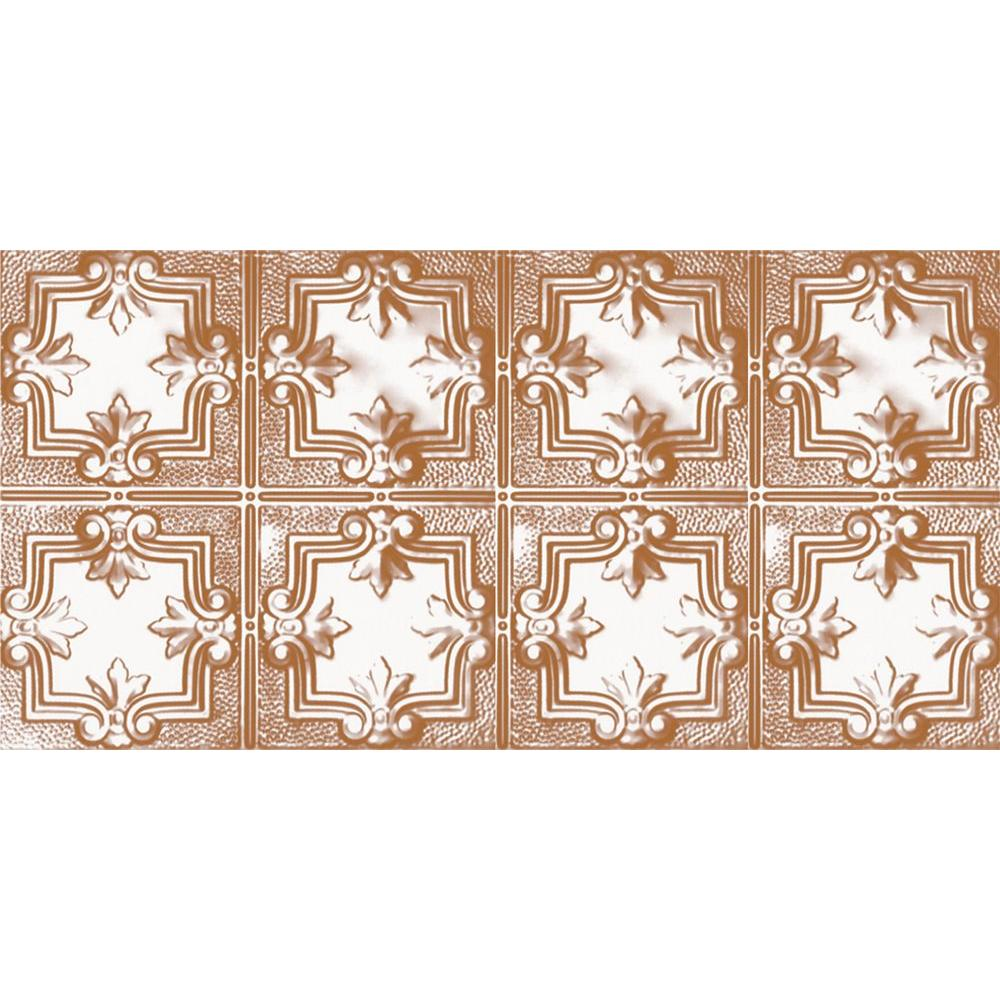 2 ft. x 4 ft. Nail-up/Direct Application Tin Ceiling Tile in Satin Copper (24 sq. ft. / case)