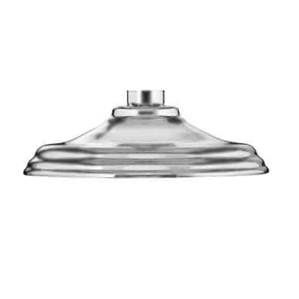 JADO Traditional Rain 6 in. Diameter Showerhead in Brushed Nickel-DISCONTINUED