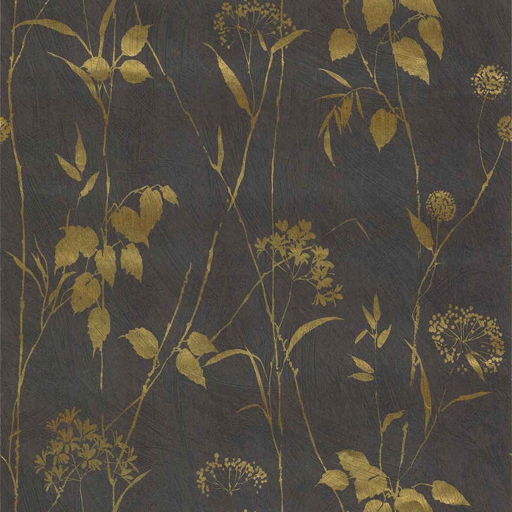 57.8 sq. ft. Lucinda Purple Painted Floral Trail Wallpaper