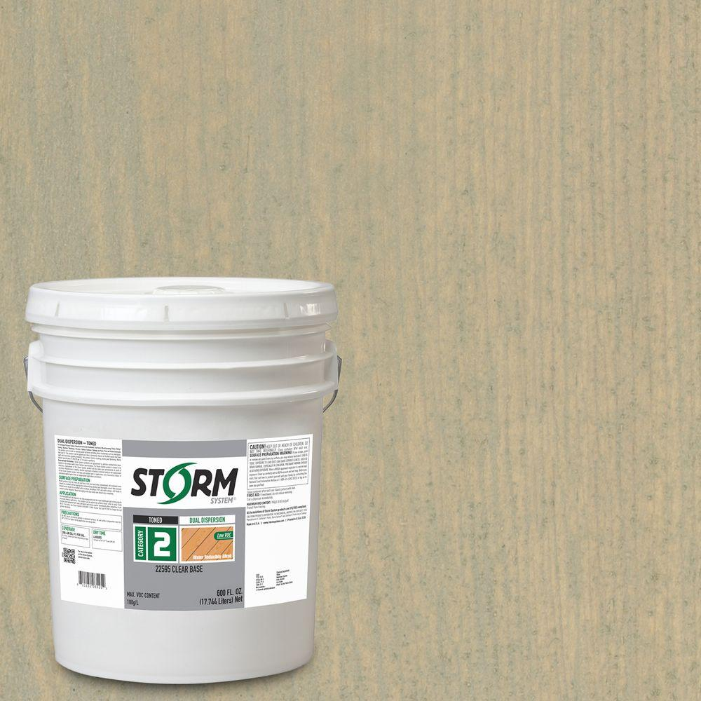 Storm System Category 2 5 gal. Angel Street Exterior Semi-Transparent Dual Dispersion Wood Finish