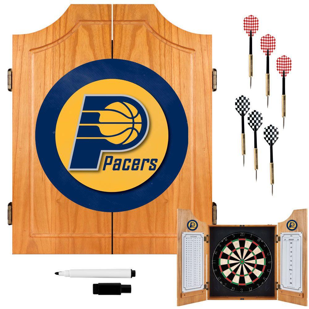 Trademark NBA Indiana Pacers Wood Finish Dart Cabinet Set