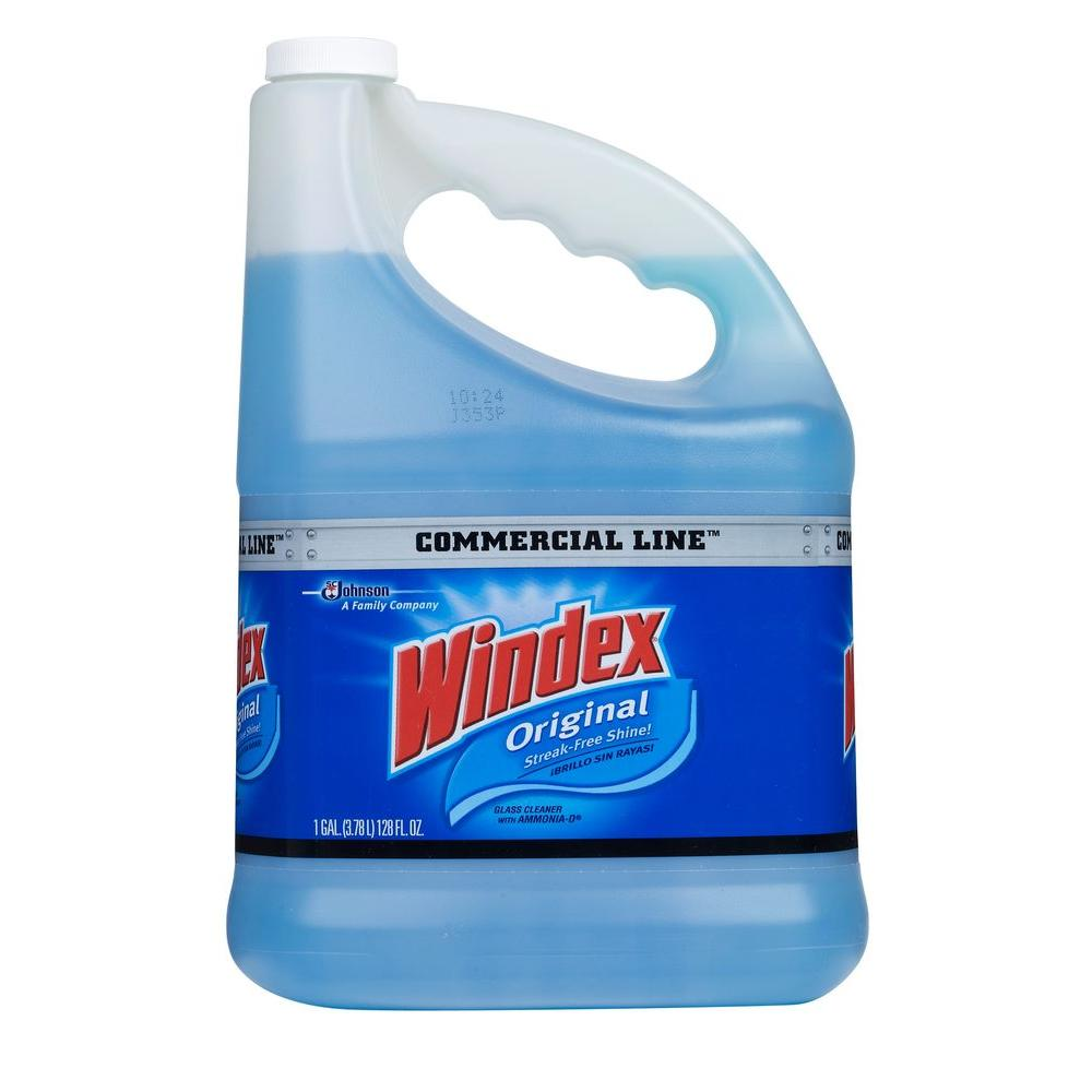 Windex 128 oz. Commercial Line Original Powerized Glass Cleaner Refill (4-Pack)