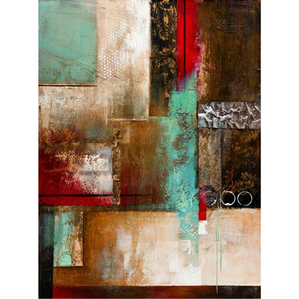 "Yosemite Home Decor 47 in. x 35 in. ""Fading Into"" Hand Painted Contemporary Artwork"