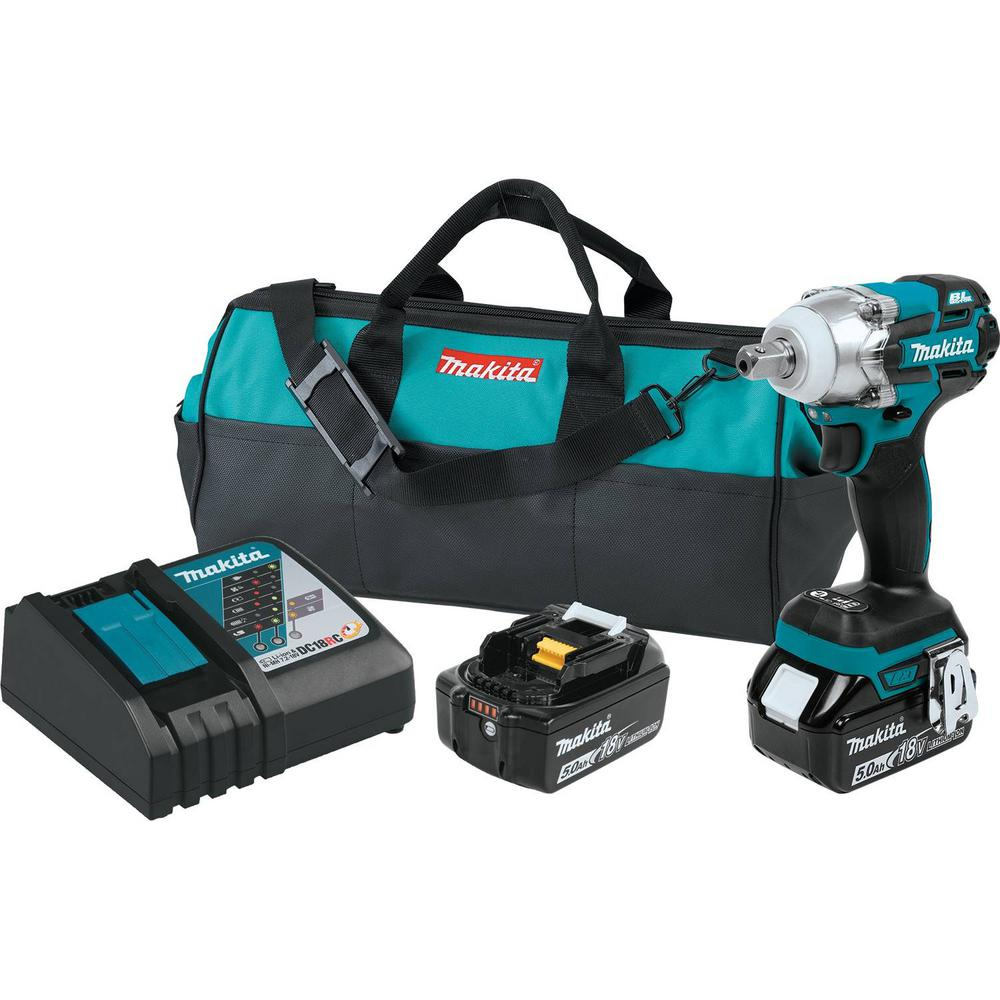 18-Volt 5.0Ah LXT Lithium-Ion Brushless Cordless 1/2 in. 3-Speed Impact Wrench