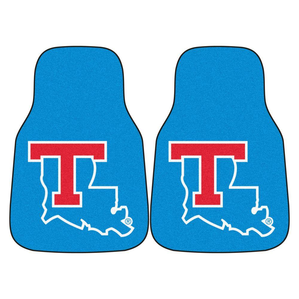 Louisiana Tech University 18 in. x 27 in. 2-Piece Carpeted Car