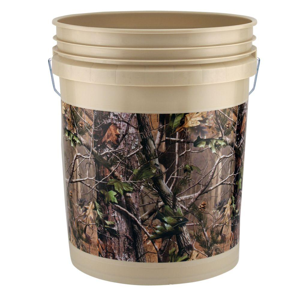 5-gal. Realtree APG Bucket (3-Pack)-05GLAPG-3 - The Home Depot