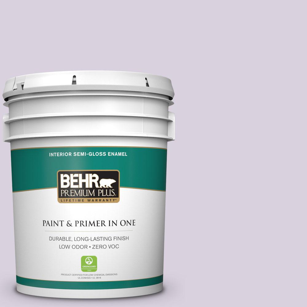 5-gal. #S100-1 Spring Bouquet Semi-Gloss Enamel Interior Paint
