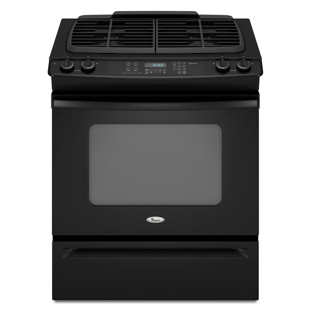 Whirlpool Gold 4.5 cu. ft. Slide-In Gas Range with Self-Cleaning Oven in Black