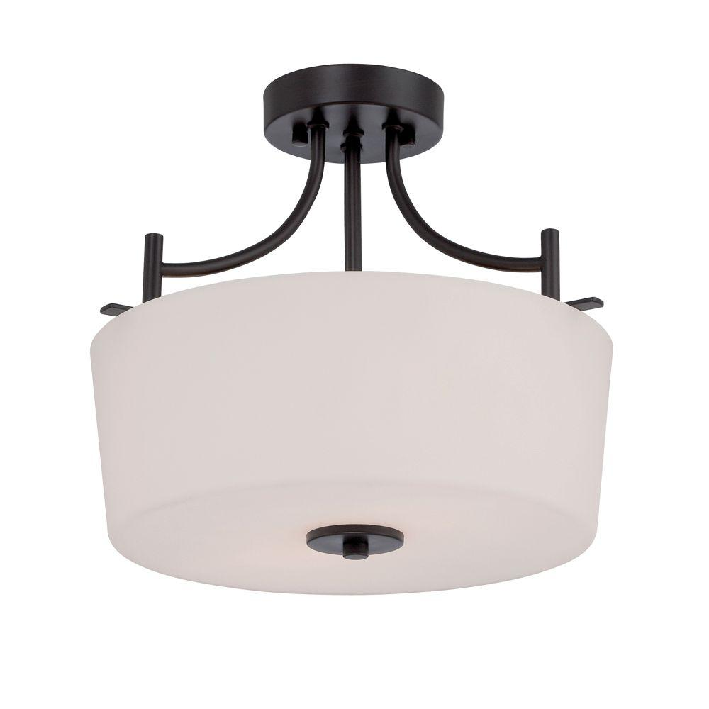 Designers Fountain Cassina 2-Light Biscayne Bronze Semi-Flush Mount-86911-BBR -