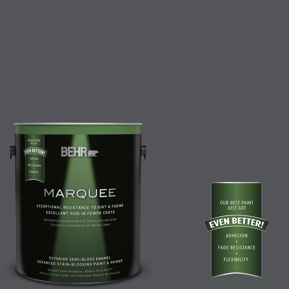 1-gal. #N510-6 Orion Gray Semi-Gloss Enamel Exterior Paint