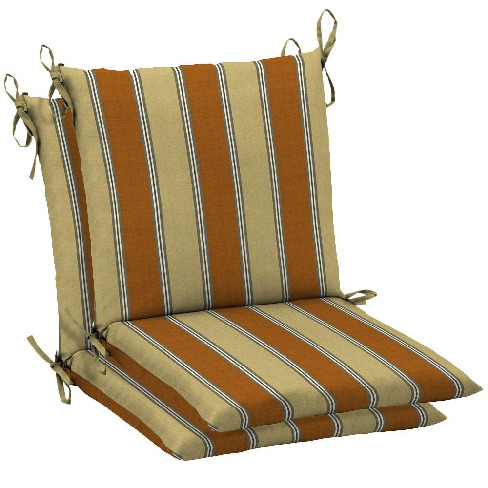 Arden Terrace Stripe Mid Back Outdoor Chair Cushion 2 Pack-DISCONTINUED